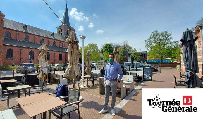 Burgemeester Gilles Bultinck kijkt reikhalzend uit naar de heropening van de terrassen in zijn Vosselaar.