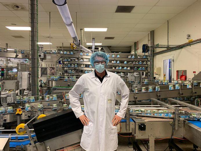 Directeur Marco Eggink van ijsfabriek Ben & Jerry's in Hellendoorn.