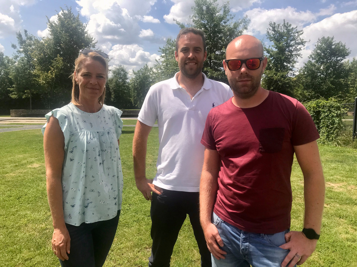 Eva Van der Wee (De Molen), Kevin Van Looy en Stef Roevens van zomerbar Calabria.