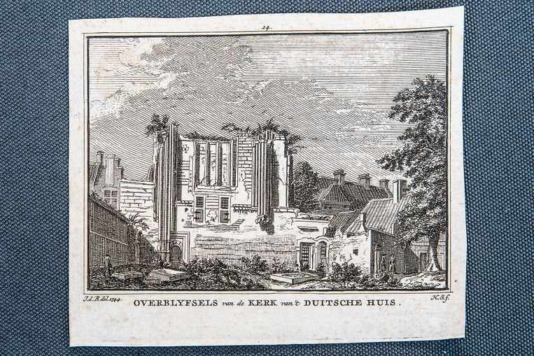 Het 'Duitsche Huis' van de Orde bestond uit verschillende gebouwen en een kerk gewijd aan Maria. Beeld Harry Cock / de Volkskrant