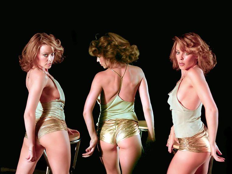 Kylie hotpants Beeld Videoclip Spinning Around