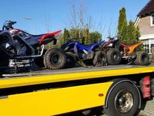 Politie neemt 3 quads in beslag na woninginval in Enschede