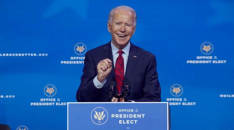 De verkozen Amerikaanse president Joe Biden. Beeld Photo News