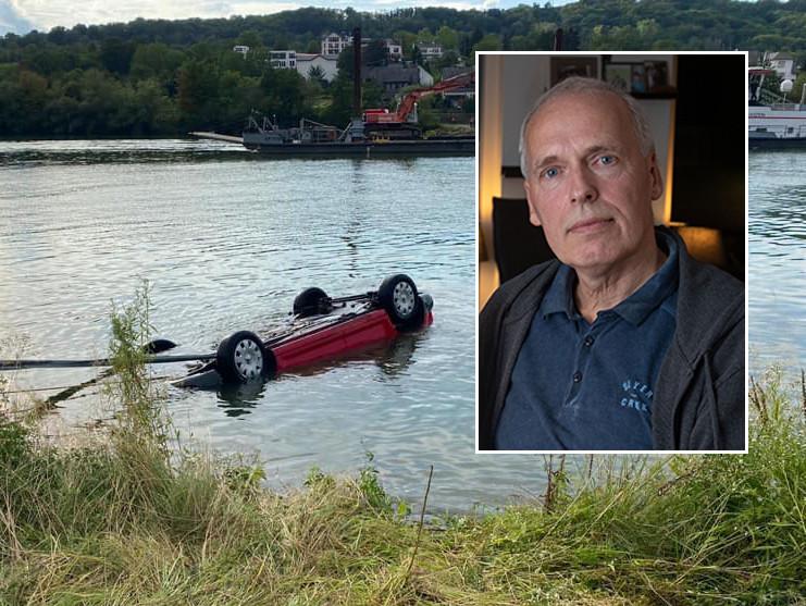 Jacob Dijkstra sprong de Moezel in om het leven van de bestuurder te redden.