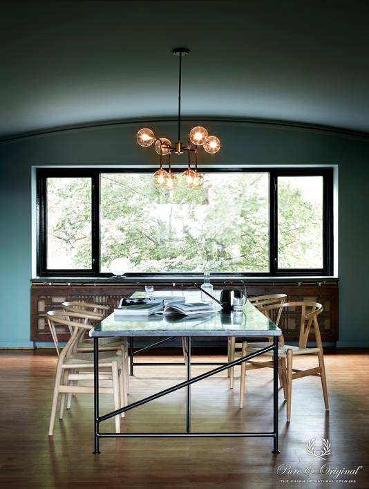 Creative Direction and colour design: Dagny Fargestudio. Styling: Kirsten Visdal. Photographer: Margaret de Lange  Visual Manager: Iris Floor. Walls and ceiling: Blue Reef (Classico). Window frames: Black (Traditional Paint)
