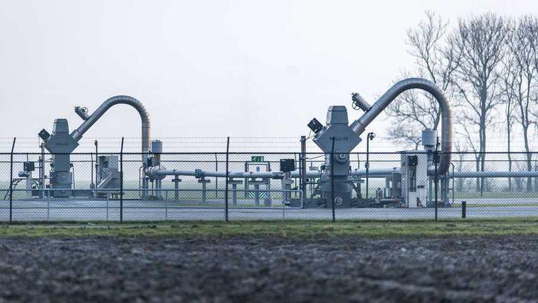 Een gaswinningslocatie van de Nederlandse Aardolie Maatschappij (NAM) bij het dorp 't Zandt. Beeld anp