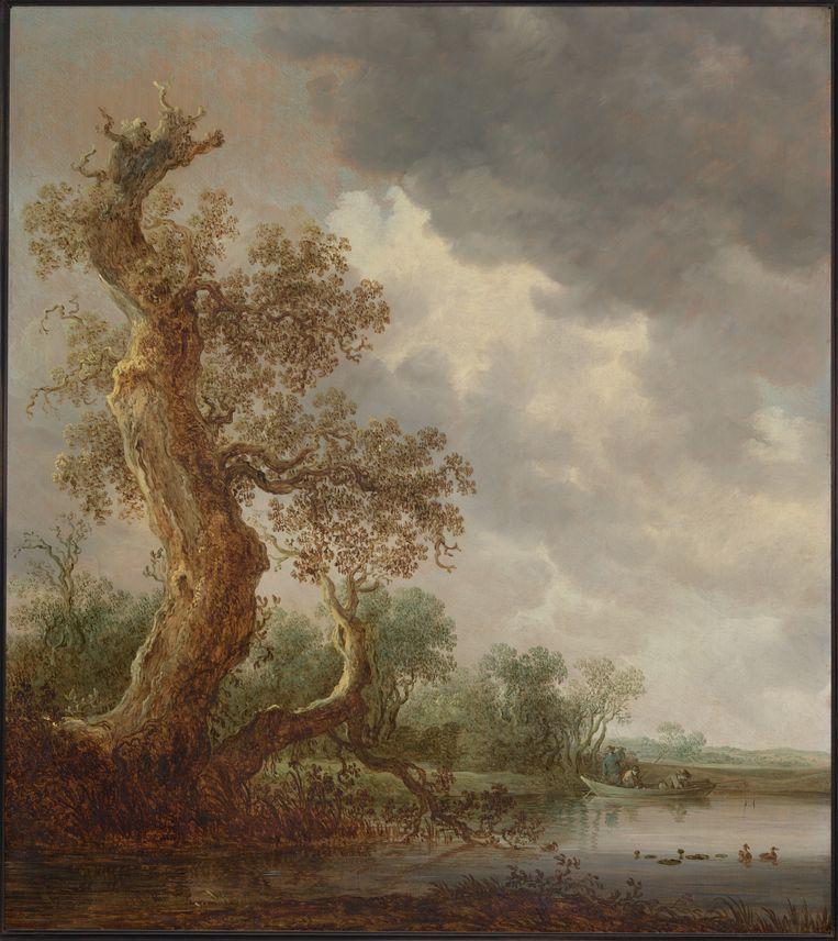 Jan van Goyen, Oude Eik aan rustig water, (1642), Particuliere collectie Beeld