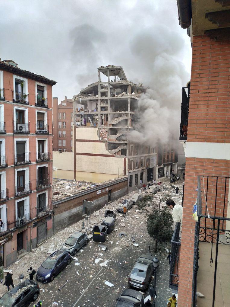Explosie in Madrid. Beeld Privébeeld