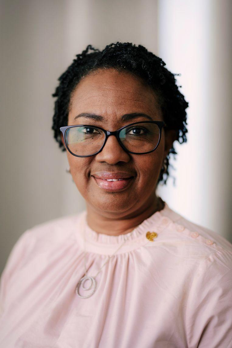 Silveria Jacobs, de minister-president van Sint Maarten.   Beeld Marc Driessen