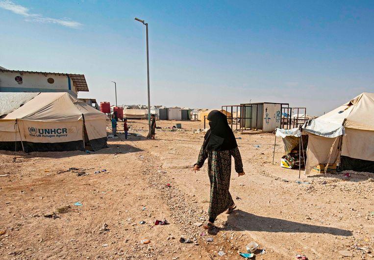 Een opvangkamp in Syrië. Beeld AFP