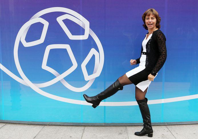 Dominique Leroy in 2014 toen zij aan het hoofd stond van Belgacom.
