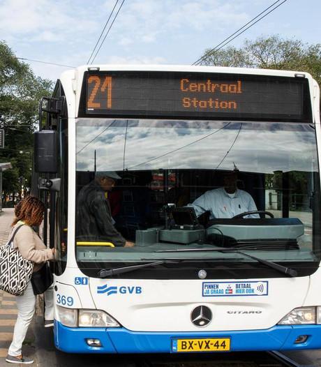 GVB laat maandag geen bussen en nachtbussen meer rijden