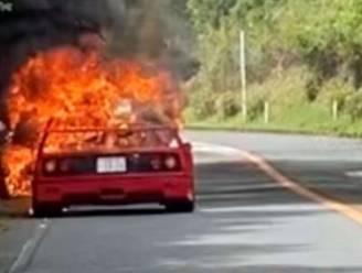 Fikkende Ferrari F40: miljoenenauto gaat in vlammen op