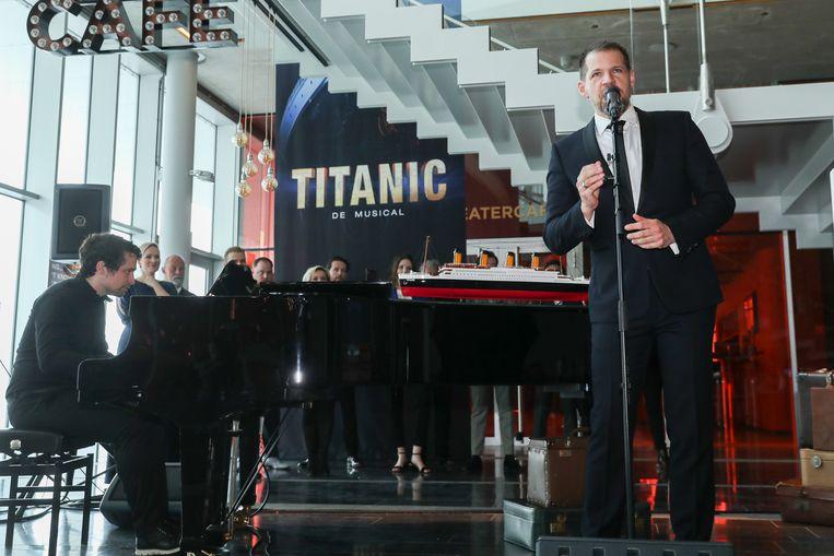 René van Kooten tijdens de presentatie van Titanic de musical. Beeld David Heukers/Brunopress