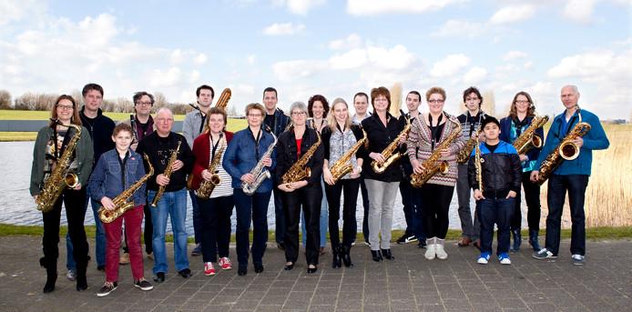 Het Westland Saxofoon Orkest.
