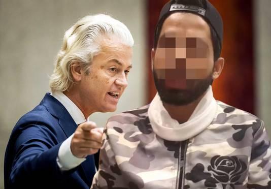 """Junaid I. wilde Geert Wilders naar de hel sturen Hij kwam speciaal naar Nederland om de cartoonwedstrijd te stoppen die Geert Wilders wilde houden. ,,Met Gods wil zal ik die hond naar de hel sturen."""" Vandaag staat Junaid I. in hoger beroep voor het Gerechtshof."""