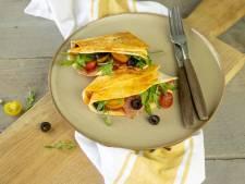 Wat Eten We Vandaag: Snelle tortilla met parmaham en mozzarella