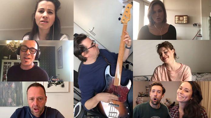 Musicalsterren brengen 'ode aan iedereen' in coronacrisis.
