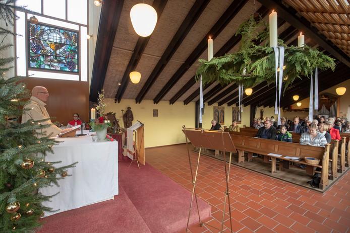 De laatste kerstdienst van de katholieke kerk in Lunteren, afgelopen kerst.