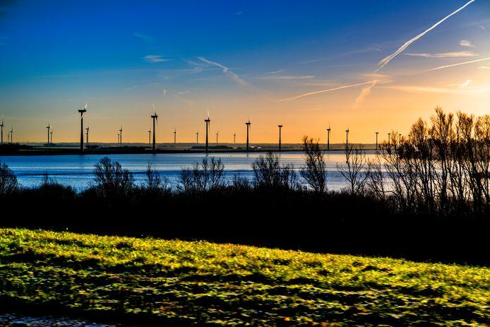 Windmolens in Flevoland.