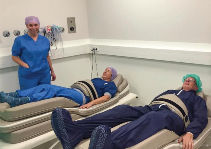 In Belgische ziekenhuizen wordt al gebruik gemaakt van de geschonken massagematrassen