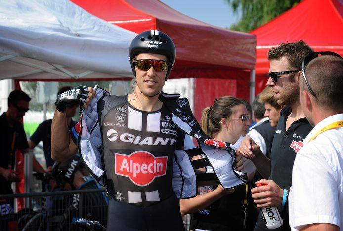 Koen de Kort in 2015 bij de start van de Tour de France in Utrecht.