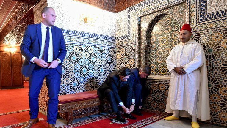 Theo Francken op werkbezoek in Marokko. Beeld Photo News