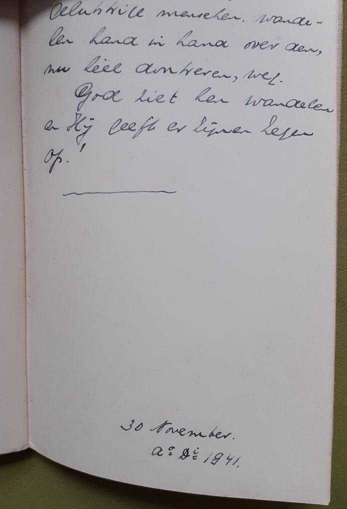 Handschrift Jan P. Kooman
