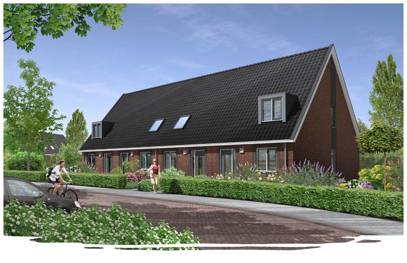 Een nieuw woonconcept van SallandWonen. ,,Appartementen zijn er wel, maar wie in een dorp woont hecht toch enige waarde aan een eigen tuin of pad naar de voordeur.''