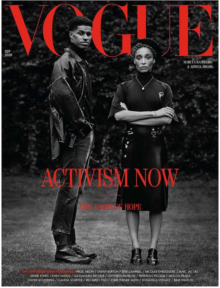 De 'Activism now'-cover van 'British Vogue'. Beeld RV