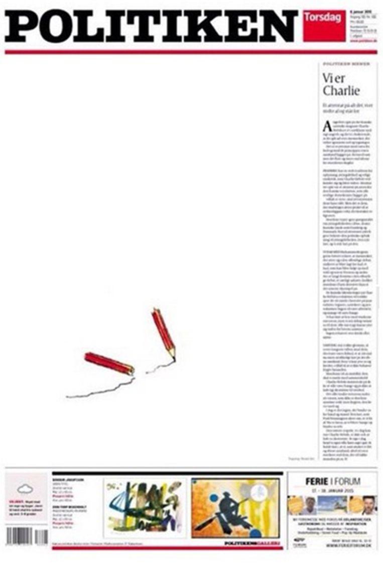 Een van de grootste kranten van Denemarken, Politiken, gaat voor eenvoud. Beeld Twitter/Politiken