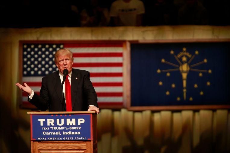 Donald Trump wordt nu zo goed als zeker de Republikeinse presidentskandidaat. Beeld Photo News