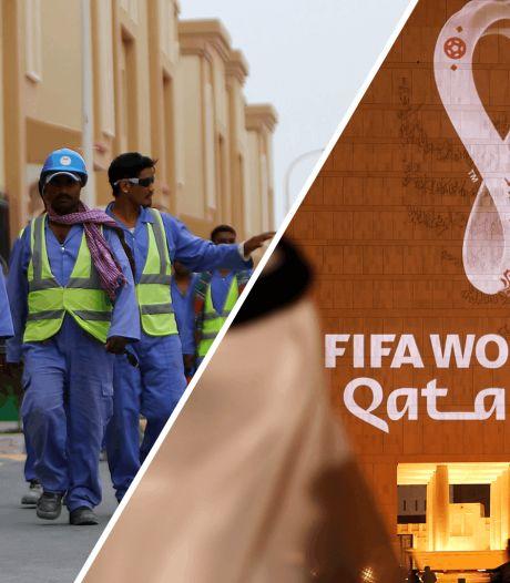 Statement Amnesty bij Nederland-Gibraltar: 'FIFA en Qatar, laat arbeiders niet in hun hempie staan'