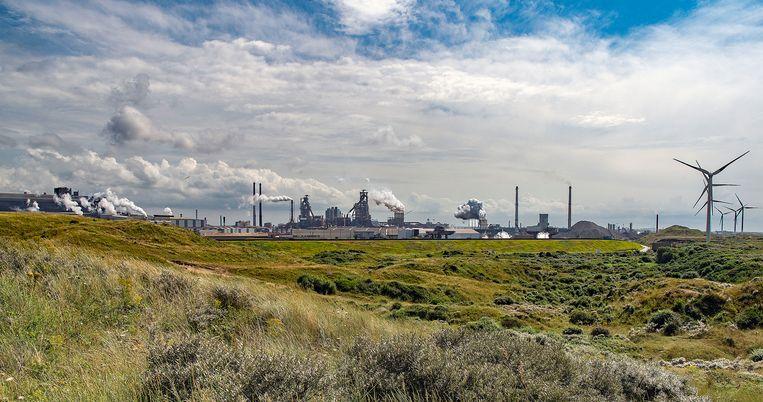 Tata Steel bij Wijk aan Zee. Beeld Guus Dubbelman / de Volkskrant