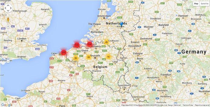 http://www.dialectloket.be/geluid/stemmen-uit-het-verleden/kaart/