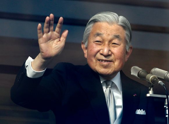 De Japanse keizer Akihito.