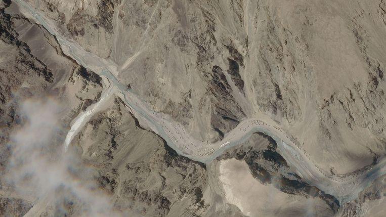 Sattelietbeelden van de Galwanvallei. Beeld AFP