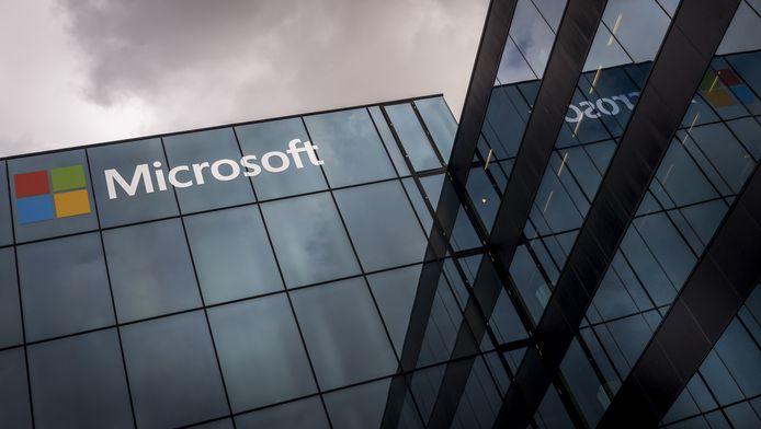 Het hoofdkantoor van Microsoft in Nederland, bij Schiphol.