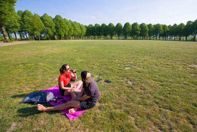 Op de Pettelaarse Schans in Den Bosch wordt 14 maart het 'klimaatalarm' geslagen.