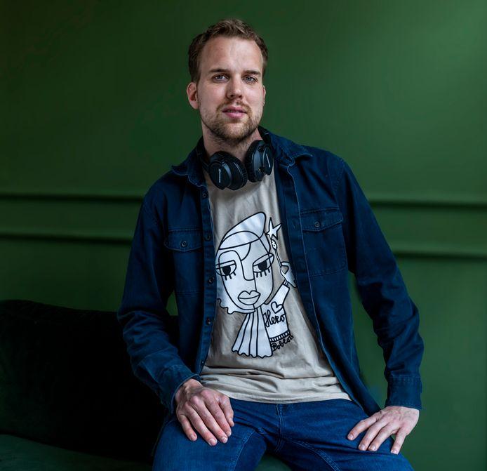 Radiopresentator Wijnand Speelman(33) hoopt dat door zijn campagne veel mensen zich opgeven als stamceldonor.