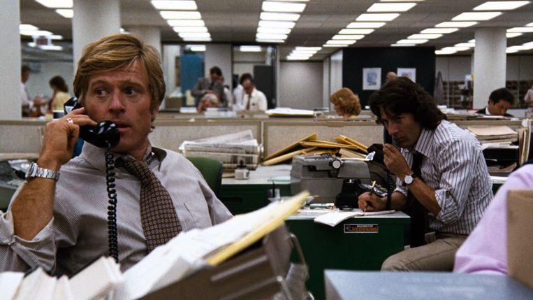 Robert Redford en Dustin Hoffman in 'All the President's Men'. Beeld RV