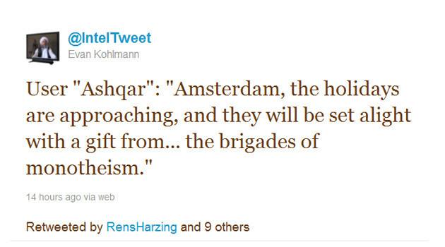 Een tweet van Flashpoint