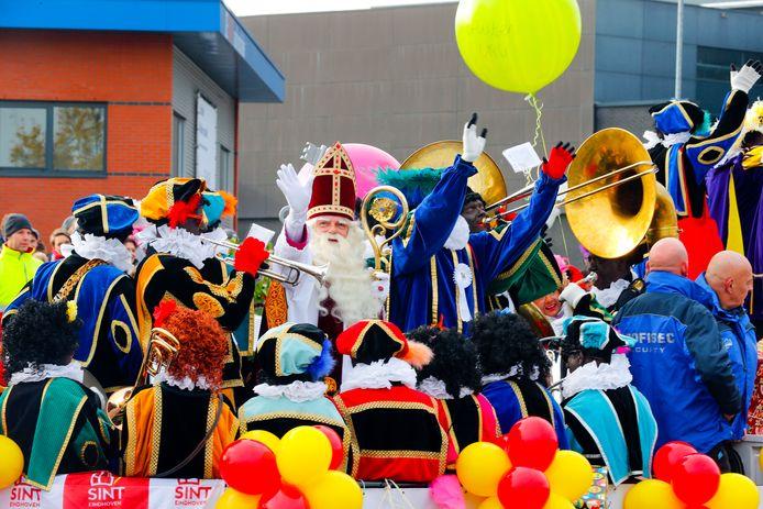 De intocht van Sinterklaas in Eindhoven.
