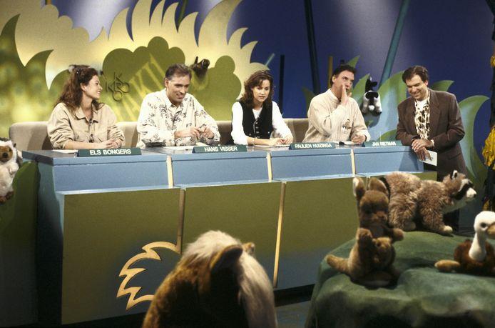 Waku Waku in 1994 met Els Bongers, Hans Visser, Paulien Huizinga, Jan Rietman, Rob Fruithof.