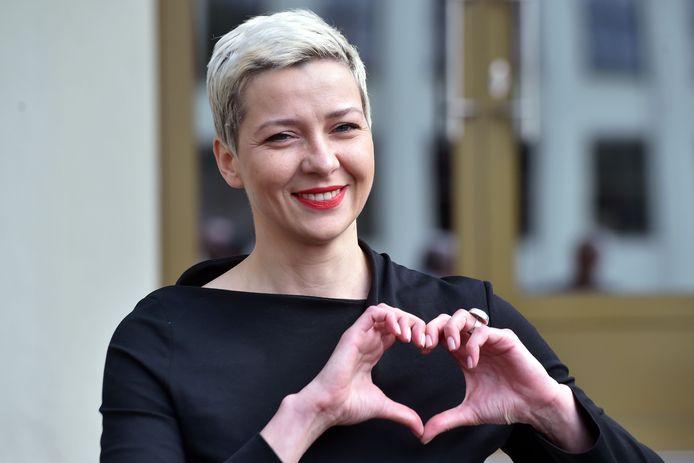 De Wit-Russische Maria Kolesnikova op 14 juli 2020.