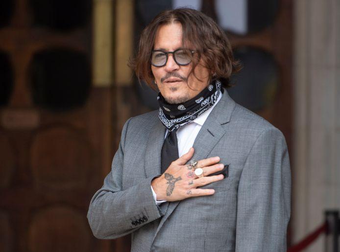 Johnny Depp bij de rechtbank.