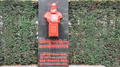 Buste Leopold II opnieuw beklad, maar er is al niets meer van te zien