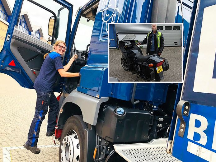 Vrachtwagenchauffeur Heleen Brakenhoff zette haar vrachtwagen over twee rijstroken neer tijdens drukke ochtendspits op de A2 en redde zo motorrijder Peter (inzet) van ernstig ongeval.