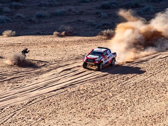 Ten Brinke in actie tijdens de Dakar Rally.