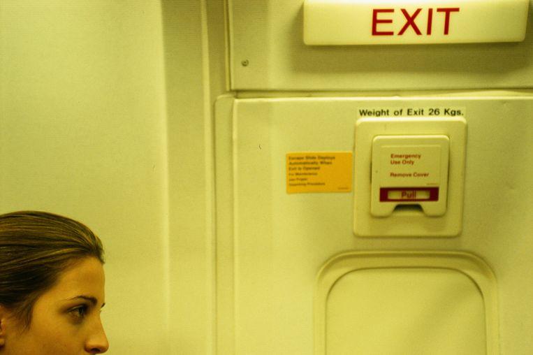 De nooduitgang van een vliegtuig. Beeld Thinkstock
